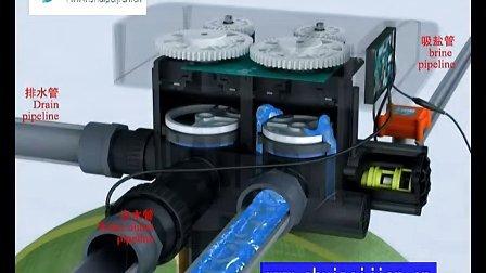 润新TMF77A3软化阀头安装原理 软化水阀头 软化水设备 水处理配件批发
