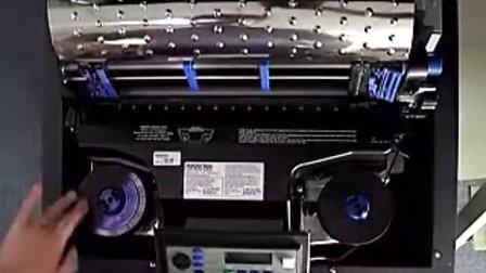 普印力P7行打色带、纸张安装及自检演示-柜式机