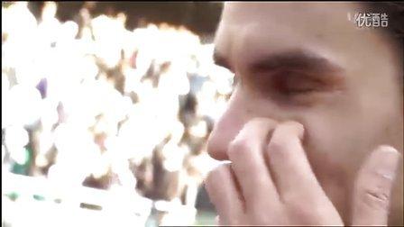 2011法网费德勒QF vs Monfils赛后场上访问[法语]