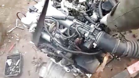 三菱6G74发动机启动视频