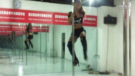 重庆钢管舞-性感美女酒吧钢管舞爵士舞教学视频
