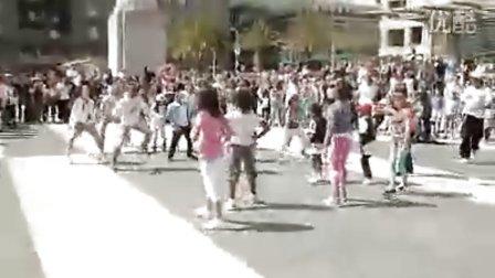 儿童街舞!广场儿童街舞快闪族
