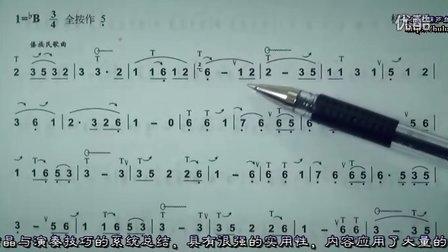 77 怎样吹好葫芦丝 有一个美丽的地方 识谱节奏分析讲解练习