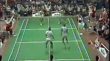 羽毛球比赛录像,经典比赛录像,1986年汤杯:李永波 田秉毅vs丹麦