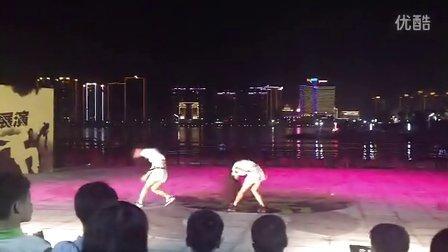 清远国际旅游文化节江滨曲艺广场街舞表演