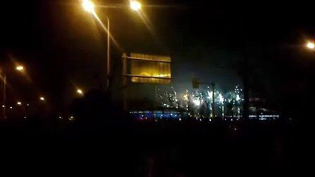 山东省淄博市市体育场附近焰火晚会2