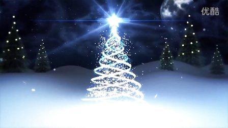 V608-圣诞树新年会晚会LED大屏幕婚礼素材高清高端舞台动感动态视频