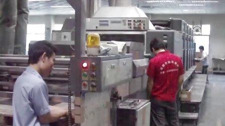 海德堡五色电脑酒精机维修后试机