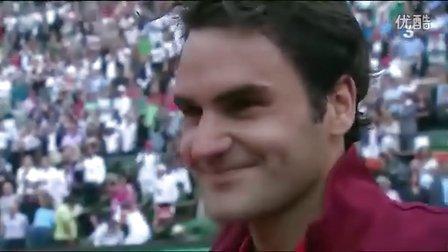 2011法网费德勒半决赛完胜德约场上访问全场欢呼Roger!