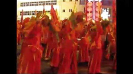 准格尔旗中学200人威风锣鼓表演视频