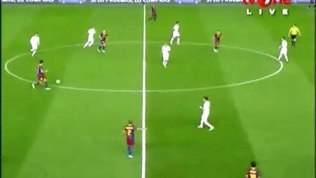 2011年4月21日 西班牙国王杯决赛 巴萨vs皇马下半场