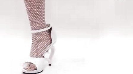 玫瑰爱心露趾高跟凉鞋