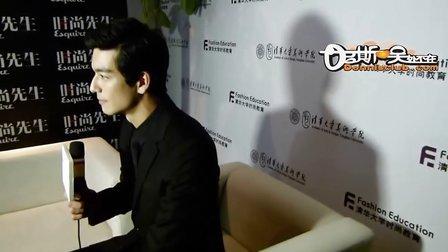 丹尼斯吴2011北京时尚先生后台采访片段