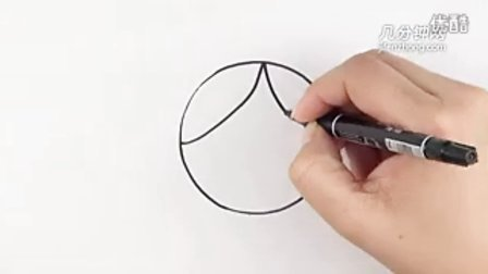 圆形简笔画之奶奶--三森(samcer)儿童涂鸦