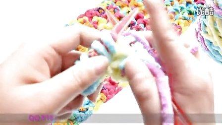 情侣扣围巾的织法花样视频教学方法 编织365高清织围巾教程 高清