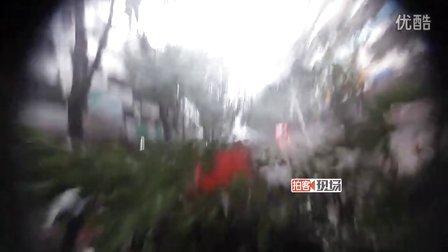 """[拍客]直击超强台风""""海燕""""袭击三亚现场"""