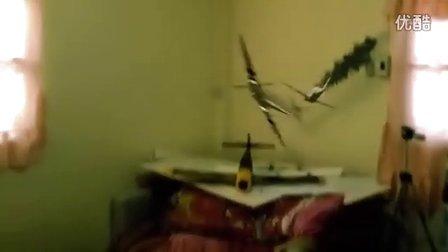 纸模飞机室内战斗电影-喷火(Spitfire)大战野马(P51D)