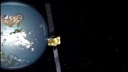 嫦娥一号绕月探测卫星实时运行情况模拟