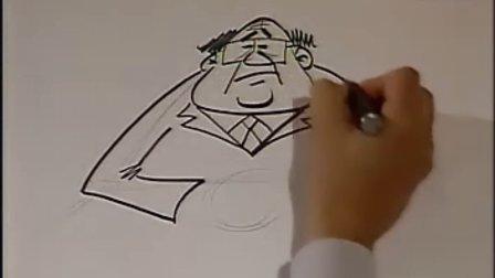 漫画教程05怎样画不同身份的卡通人物