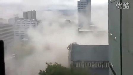 新西兰民众高楼上用手机拍下地震瞬间