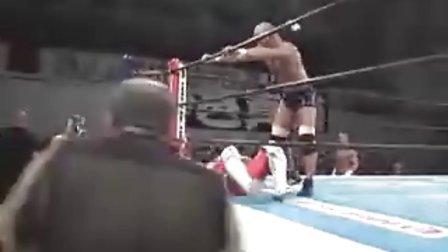 2011.02.11 NJPW 四代虎面,金本浩二,獣神萊卡 vs 石井智宏,邪道,外道
