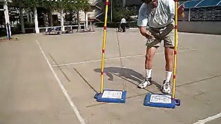 中国竞技毽羽毛球多用便携网架安装SetUpChineseJJJBadmintonNetSet