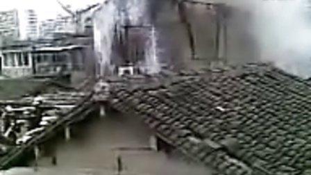 2011年4月19日上海长宁区昭化路陶家宅旧区失火2