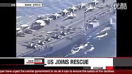 美国海军加入到日本大地震搜救失踪人员队伍中