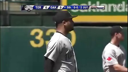 mlb全垒打王Jose Bautista2011赛季精彩守备