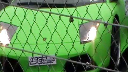 下午决赛开赛前SCC超跑俱乐部GTR、蝙蝠、911