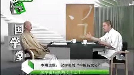 """一《43汉字密码系列(十三)——汉字里的""""中医药文化""""》"""