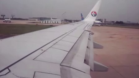 飞机起飞 穿过云层过程