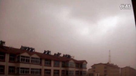2011年9月6日内蒙古阿拉善盟巴彦浩特镇遭受沙尘暴袭击