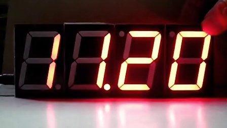 俱进电子 1.8寸大尺寸数码管语音报时数字钟 大尺寸数码管驱动板