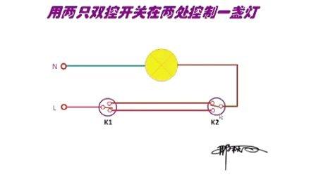 双控灯的接线原理图合成视频.mp4