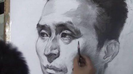 嘉华领航美术培训-老师-男中年素描头像B