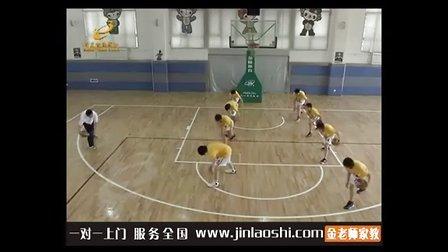 中学七年级体育与健康名师精讲篮球原地双手胸前传接球李文清