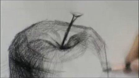 太原华思美术培训学校教学视频-素描苹果