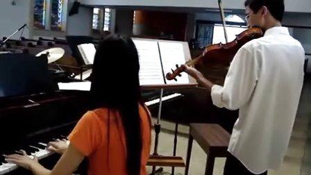 钢琴小提琴演奏海贼王(宾克斯的酒)