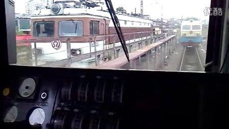SS4机车重联过程(驾驶室视角)