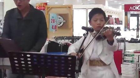 小学生 小提琴 与电子琴合奏 稻香