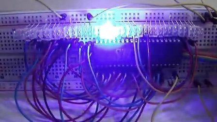 STC单片机36个IO接口流水灯效果