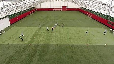 U14训练:第三人跑位时机
