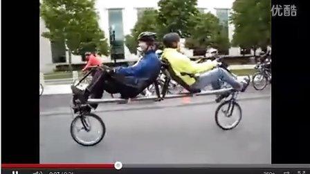 """双人自行车哦,意想不到的""""kappa"""" 背靠背式躺车"""