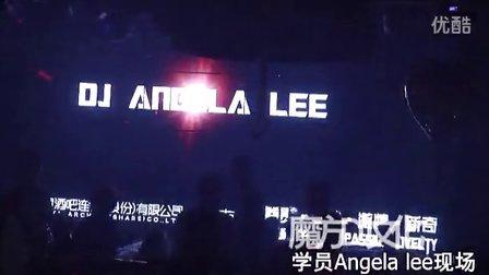 魔方DJ培训学校,DJ学员Angla Lee现场片段