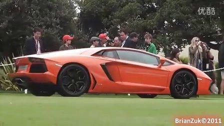 2011年圆石滩豪车展上优雅的兰博基尼LP700-4 Aventador以及全碳纤维底盘