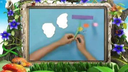 幼儿手工制作《趣味撕纸之荷包蛋》手工视频