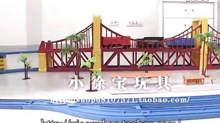 特大套装和谐号轨道车 动车组火车玩具双层轨道带山洞可换音效屋加一辆托马斯演示