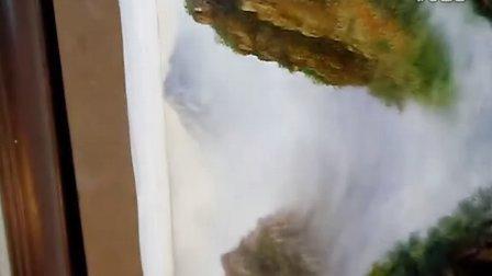 杨松刀画 油画 绘画 刀画吉林  刀画 东北长白山刀画 视频 现场 东北亚刀画 国画教育
