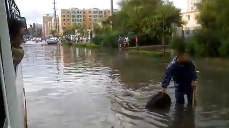 长春市前进西街发水了
